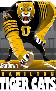 (Eric Poole) is at it again, this time with the CFL. Here is his rendition for the Hamilton Tiger-Cats. Football Images, Football Art, Collage Football, Canadian Football League, American Football, Nfl Divisions, Sports Decals, Sports Logos, Sports Art