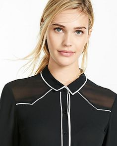 piped western shirt