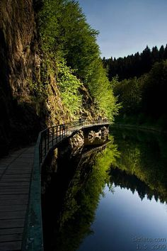 Riegrova stezka - skalnatý kaňon v údolí řeky Jizery