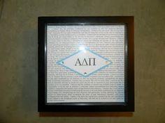 The Creed - a paper craft I made! #ADPiVirtualScrapbook