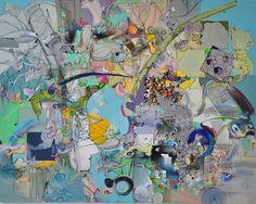 "Saatchi Art Artist Larisa Ilieva; Collage, ""BLUE DESIRE"" #art"