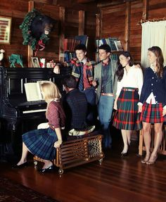 Classy Girls Wear Pearls: long tartan skirts!  Glad they're back.  :)