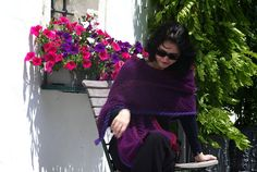 Purple mohair scarf for woman purple hand knitted wrap by linarekl, $249.00