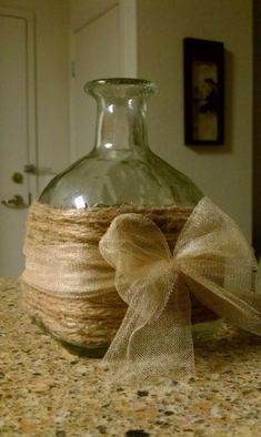 Patron bottle! This would be great for  a Fall or Nautical Flower Arrangement.
