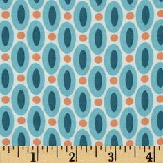 Joel Dewberry Flora Rayon Abacus Eucalyptus from @fabricdotcom  Designed by Joel Dewberry for Free Spirit, this printed rayon challis fabric has a beautiful fluid drape and soft hand. It is perfect for creating shirts, blouses, gathered skirts and flowing dresses with a lining. Colors include aqua, teal, orange and cream.