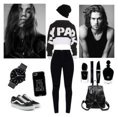 Black School by ellilla on Polyvore featuring Ivy Park, Vans, Casetify, SCHA, Max Factor, Christian Dior, EB Florals, Giorgio Armani and Merrell