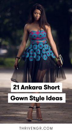 Ankara Short Gown Styles, Short African Dresses, Short Gowns, Latest African Fashion Dresses, Women's Fashion Dresses, Types Of Dresses Styles, Lace Dress Styles, African Attire, Elegant Dresses