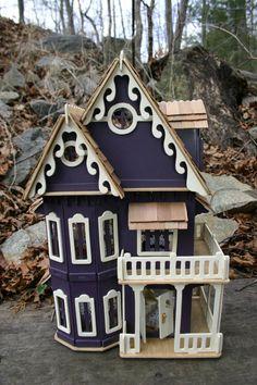 Miniature Purple/Plum Victorian Dollhouse via Etsy