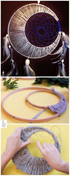 Tutorial e idee fai-da-te Dream Catcher Tutorial-fai-da-te Dream Catcher -. - Tutorial e idee per Dream Catcher fai-da-te sogni Tutorial fai da te Dream Catcher – Tuto - Diy Projects To Try, Crafts To Make, Fun Crafts, Arts And Crafts, Summer Crafts, Creative Crafts, Sewing Projects, Math Projects, Bead Crafts