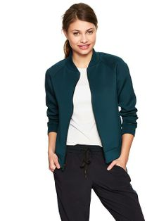 Pique bomber jacket   Gap
