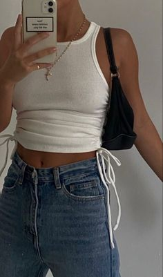 Teen Fashion Outfits, Retro Outfits, Cute Casual Outfits, Look Fashion, Jugend Mode Outfits, Looks Pinterest, Mode Ootd, Mode Vintage, Outfit Goals