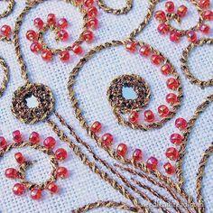 Shisha embroidery with beads