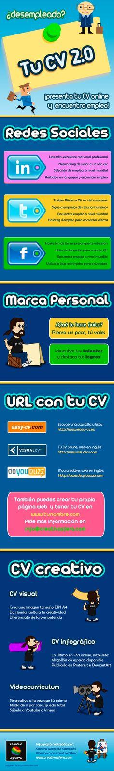 Infografía: ¿Desempleado? Tu CV 2.0 para Encontrar Empleo http://www.onedigital.mx/ww3/2012/05/08/infografia-desempleado-tu-cv-2-0-para-encontrar-empleo/
