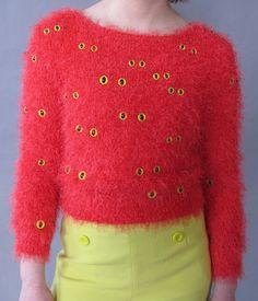 Monster Eyeball Sweater by Pretty Snake