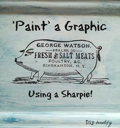 How to Paint a Graphic with a Sharpie www.diybeautify.com