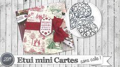 """Vidéo-Tuto """"Etui à Mini Cartes * Sans Colle !"""" par Coul'Heure Papier - YouTube Windows Movie Maker, Filofax, Stampin Up, Art Textile, Projects, Couture, Christmas, Advent Calendar, Cartonnage"""