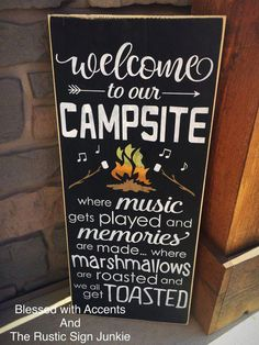 Welcome to our campsite sign camping signs Camping rules sign camfire sign rustic Camping Sign Camper sign camper decor camping gift Camping Rules, Camping Gifts, Camping Checklist, Camping Essentials, Camping Hacks, Camping Activities, Vacation Checklist, Camping Guide, Wedding Activities
