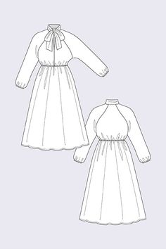 Buy the Stella Raglan Shirt and Shirt Dress sewing pattern from Named. This pattern includes two variations: a casual blouse and a feminine dress. Raglan Shirts, Clothing Patterns, Dress Patterns, Sewing Patterns, Shirt Dress Pattern, Shirt Dress Diy, Dress Name, Diy Fashion, Fashion Design