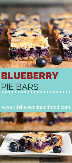 Blueberry Pie Bars   Life, Love, and Good Food #desserts