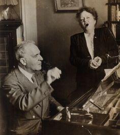 Elisabeth Schumann with Bruno Walter in London in 1947