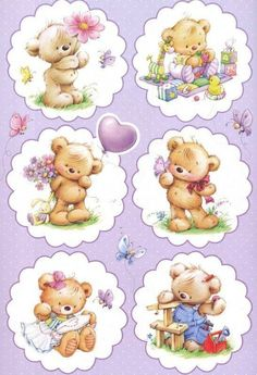 35 Best Ideas For Baby Cute Illustration Friends Tatty Teddy, Illustration Mignonne, Cute Illustration, Cute Images, Cute Pictures, Cute Teddy Bears, Decoupage Paper, Baby Cards, Cute Drawings