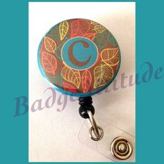 Personalized Badge Reel ID Holder. Bright Autumn by BadgeAttitude, $8.00