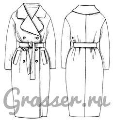 Выкройка пальто, модель №274, магазин выкроек grasser.ru