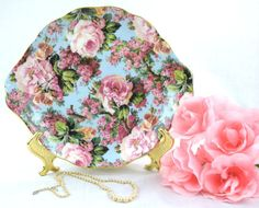 Chintz Handled Cake Plate Chintz Collection Royale by AfterOld