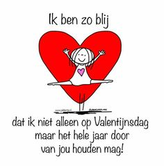 Jabbertje Valentijnsdag Live Love, Love You, Dutch Quotes, Cute Love Quotes, Love Words, Happy Thoughts, Bullet Journal, Learning, Cards