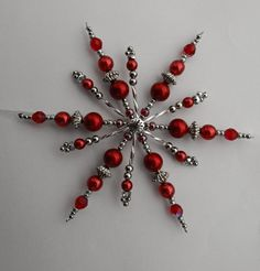 Beaded Christmas Ornaments, Snowflake Ornaments, Christmas Snowflakes, Christmas Jewelry, Christmas Mantels, Christmas Crafts, Xmas, Snowflake Decorations, Christmas Decorations