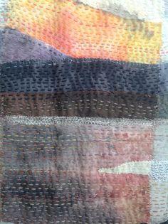 Handstitched landscape by Debbie Irving