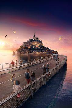 Mont-St-Michel on Behance