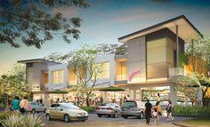 Modern shophouse facade