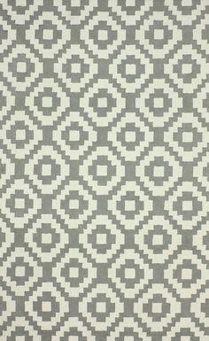 Ladi 100% Wool Area Rug in Grey design by NuLoom
