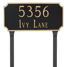 Montague Metal Products Princeton Estate Two Line  Address Plaque Finish: Antique Copper/Copper