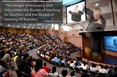 The danger of lectures...