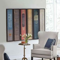 book art ~ imagine your favorite books spines mounted on the wall! Book Art, Book Spine, Cool Ideas, Book Nooks, I Love Books, Buy Books, New Wall, Home Decor Accessories, Oeuvre D'art