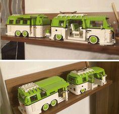 Volkswagen, Vw Bus, Legos, Lego Van, Lego Camper, Lego Auto, Lego Structures, Lego Wheels, Kombi Home