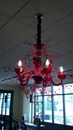 Eyeglass chandelier