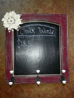 This Etsy shop takes custom orders.  GREAT quality: Chalk Board repurposed kitchen cupboard door very by CHALKworld, $45.00
