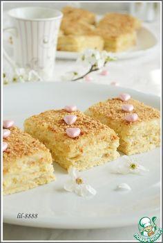 Нежное пирожное с карамельным кремом - кулинарный рецепт