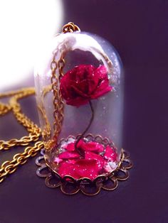 Beautiful and the beast rose rose vial necklace snow globe necklace fantasy jewelry valentines day fairytale jewelry victorian necklace Vial Necklace, Rose Necklace, Valentines Day Date, Valentines Jewelry, Cute Jewelry, Boho Jewelry, Fairy Jewelry, Jewellery, Earrings