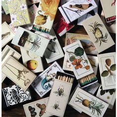 Decorative Box Match Sets - Contains 50 wooden matches.