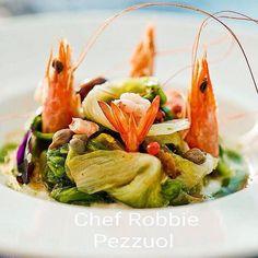 """Robbie Pezzuol @robbiepezzuol """"Sapori di mare e profumi dell'orto"""" (Scarole acciughe e capperi del racalino mazzancolleburrata di bufala e olive taggiasche) #chefemaitre #giblorsivrea #chef #rimini #riminifood #emiliaromagna #veggies #mazzancolle #shrimp #burrata #italy #italyfood #italianfood #italianstyle #gastroart #gourmetartistry #gourmet #healthyfood #foodie #foodart #foodgasm #theartofplating #foodpics #foodphotography #luxuryfood #luxury #luxurylife by chefemaitre"""