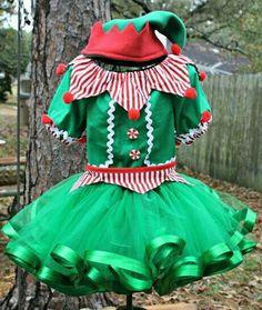 Girls Christmas Elf Santas Helper Set Pageant by MySouthernBabies Diy Elf Costume, Santa's Helper Costume, Costume Carnaval, Holiday Costumes, Diy Christmas Elf Costume, Christmas Tutu, Christmas Pageant, Ugly Christmas Sweater, Kids Christmas