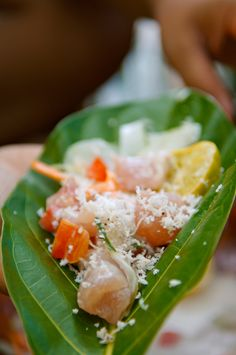 Raw fish marinated in coconut milk and lime juice is considered Tahiti's national dish... and maybe the tastiest one too!  Credit: Tim Mc Kenna