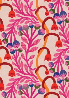 50 Ideas Flowers Blue Wallpaper Illustrations For 2019 Pattern Illustration, Art And Illustration, Flower Illustrations, Collage Des Photos, Pattern Floral, Orange Pattern, Arte Sketchbook, Art Graphique, Picture Design