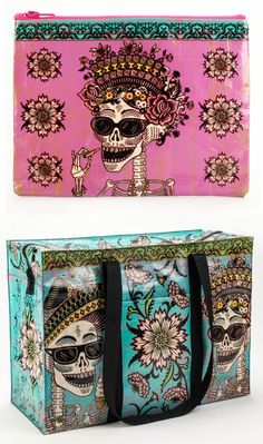 Day of the Dead zipper pouch and shoulder bag from Blue Q