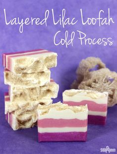 Layered Lilac Loofah Cold Process - Soap Queen