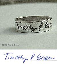 $160 personal handwriting   ring